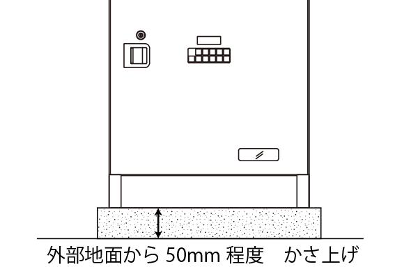 外壁や屋外への設置の場合